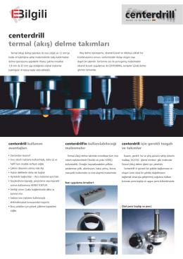 Centerdrill Broşür TR