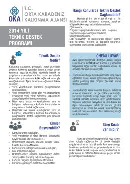 2014 Teknik Destek Rehberi - Orta Karadeniz Kalkınma Ajansı
