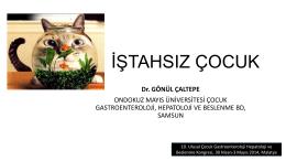 iştahsız çocuk - Türk Çocuk Gastroenteroloji Hepatoloji ve Beslenme