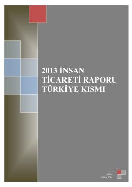 İnsan Ticareti Raporu 2013