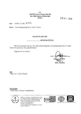 28ACU 2014 - mersin - mezitli ilçe millî eğitim müdürlüğü