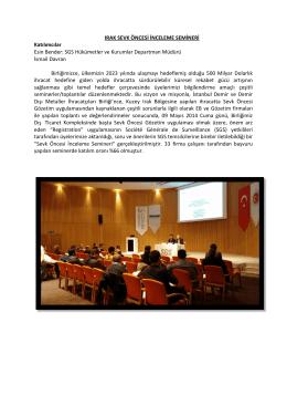 ırak sevk öncesi ihr. bilgilendirme semineri