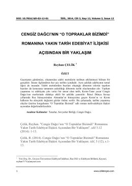 Tam Metin - Idil Sanat ve Dil Dergisi