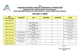 102-SKU 2. SINIF - Ataşehir Adıgüzel Meslek Yüksekokulu