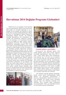 PDF - Hırvatistan 2014 Değişim Programı Gözlemleri