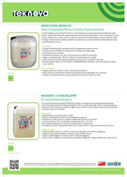 NOVA PLATE WASH UV Kalıp Kimyasalları/Nova UV