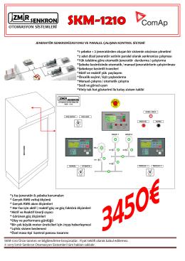 SKM-1210 Ürün tanıtım ve bilgilendirme