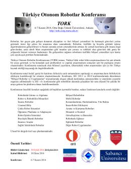 Türkiye Otonom Robotlar Konferansı TORK
