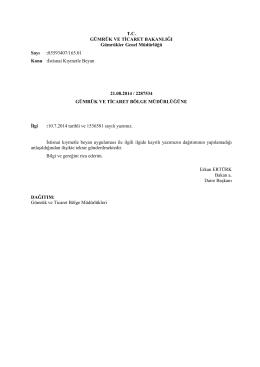 Gümrükler Genel Müdürlüğü / İstisnai Kıymetle Beyan