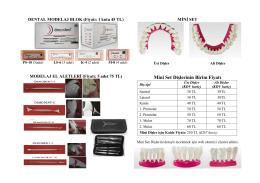 Mini Set Dişlerinin Birim Fiyatı