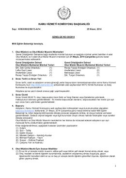 Genel Ortaöğretim Dairesi - Kamu Hizmeti Komisyonu