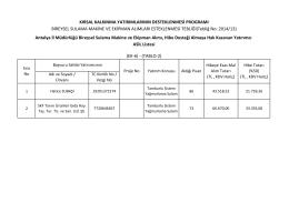 Asil Liste - Antalya İl Gıda Tarım ve Hayvancılık Müdürlüğü