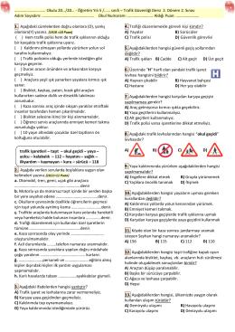 5_snf_TrafikGuvenligi_II_donem_II_sinav
