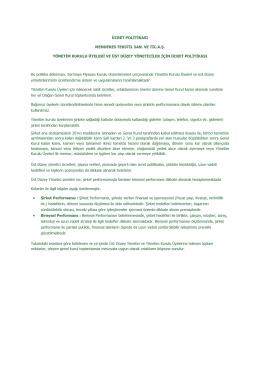 ücret politikası menderes tekstil san. ve tic.a.ş. yönetim kurulu