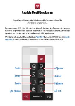 Anadolu Mobil Uygulaması