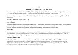 2547 Sayılı Kanun ile - Başkent Üniversitesi