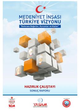Medeniyet İnşası Türkiye Vizyonu Hazırlık Çalıştayı