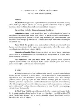 Ceza Hukuku Genel Hükümler - I (1. Eğitim ve 2