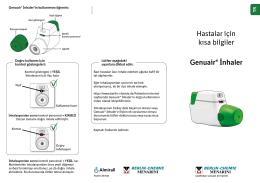 Hastalar için kısa bilgiler Genuair® İnhaler - Berlin