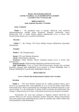 Çevre ve Kırsal Alan Komisyonu Yönergesi