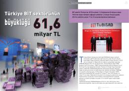 Türkiye BİT sektörünün büyüklüğü 61,6 milyar TL