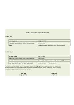 tevdi olunan paylara ilişkin temsil belgesi