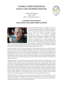 Necmuzzafer_Orbay_Seminer2014 - Uçak ve Uzay Bilimleri Fakültesi