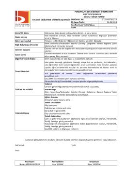 Personel ve SGK Giderleri Ödeme Emri Kontrol İşlemleri