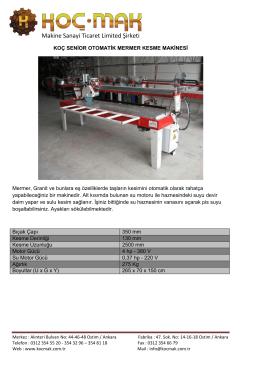 Makine Sanayi Ticaret Limited Şirketi
