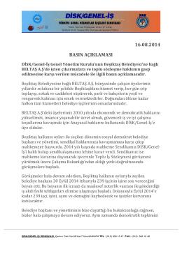 16.08.2014 basın açıklaması