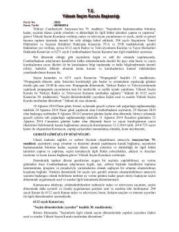 Basın ve yayın kuruluşlarının yayın ilkelerine ilişkin 2014/2922 sayılı