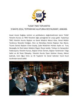 TUSAF-TMO TOPLANTISI 9 MAYIS 2014, TEPPANYAKİ