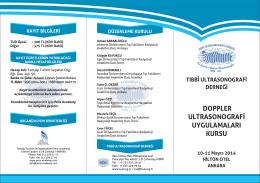 DOPPLER DUYURU (1) - Tıbbi Ultrasonografi Derneği