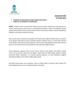 19.01.2014 Karabük TSO Ziyareti