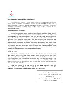 Dünya Astım Günü - İstanbul Anadolu Güney Kamu Hastaneleri Birliği