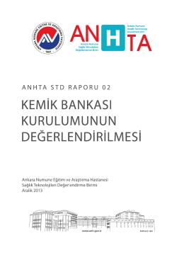 anhta std raporu 02 - kemik bankası kurulumunun değerlendirilmesi