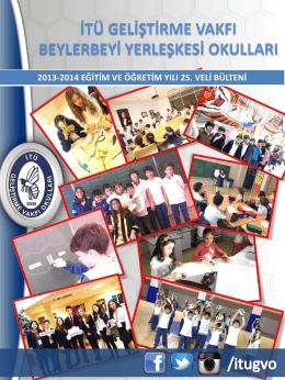 veli bülteni-25 - İTÜ Geliştirme Vakfı Okulları