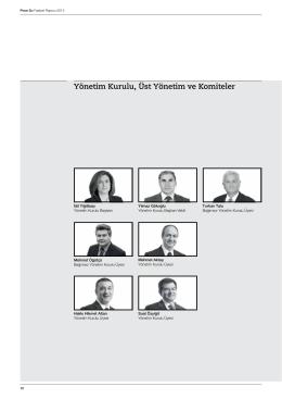 Yönetim Kurulu, Üst Yönetim ve Komiteler