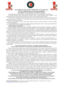 1 mayıs bildirisini pdf olarak indirmek için tıklayınız... - Hak