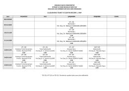 Uluslararası Ticaret ve Lojistik Bölümü 2014 Güz Yarıyılı Ders