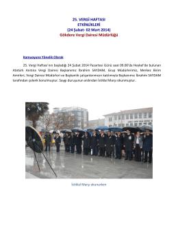 Gökdere Vergi Dairesi Müdürlüğü - Bursa Vergi Dairesi Başkanlığı