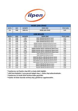 2015 USB Fiyat Listesi