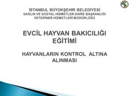 Kontrol Altına Alma - İstanbul Büyükşehir Belediyesi