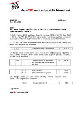 20.08.2014 2014_021 Yeni Amortisman Oranl
