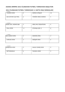 2. hafta maç sonuçları