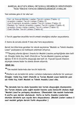MAREŞAL MUSTAFA KEMAL ORTAOKULU REHBERLİK