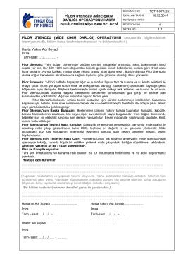 operasyonu hasta bilgilendirilmiş onam belgesi pilor stenozu