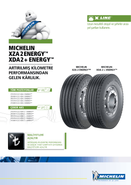 MICHELIN xza 2 ENErgy™ xDa 2 + ENErgy™