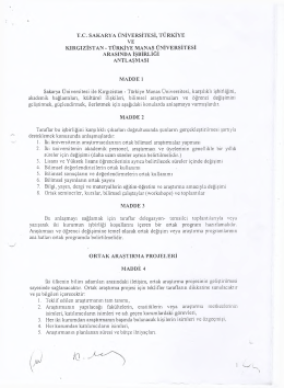 tc sakarya üniversitesi, türkiye ve kırgızistan