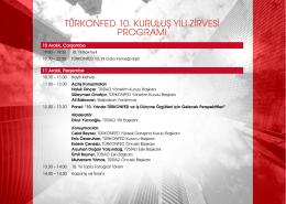 türkonfed 10. kuruluş yılı zirvesi programı
